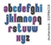 binary striped distinct font ... | Shutterstock . vector #310986218
