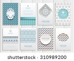 stock vector set of brochures... | Shutterstock .eps vector #310989200
