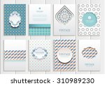 stock vector set of brochures... | Shutterstock .eps vector #310989230