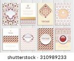 stock vector set of brochures... | Shutterstock .eps vector #310989233