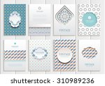 stock vector set of brochures... | Shutterstock .eps vector #310989236