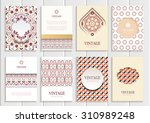 stock vector set of brochures... | Shutterstock .eps vector #310989248