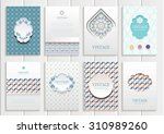 stock vector set of brochures... | Shutterstock .eps vector #310989260