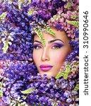 Beautiful Woman Face Surrounde...