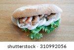 sandwich with shrimps | Shutterstock . vector #310992056