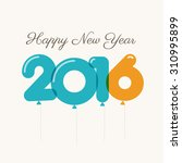 happy new year 2016 card ... | Shutterstock .eps vector #310995899