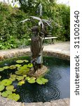 Small photo of Fountain in walled garden, Burton Agnes Hall, East Yorkshire, UK