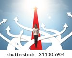 concept of confused... | Shutterstock . vector #311005904