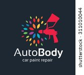 auto body  car painting logo | Shutterstock .eps vector #311010044