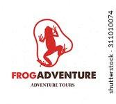 frog logo travel logo... | Shutterstock .eps vector #311010074