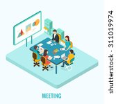 business meeting and... | Shutterstock .eps vector #311019974