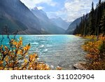 Stock photo lake louise banff national park canada with autumn colors 311020904