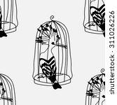 birds seamless pattern.... | Shutterstock .eps vector #311026226
