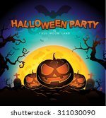 halloween party vector concept... | Shutterstock .eps vector #311030090