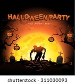 halloween party vector concept... | Shutterstock .eps vector #311030093