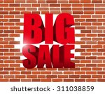 Big Sale Text Breaking A Brick...