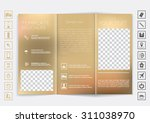 tri fold brochure mock up... | Shutterstock .eps vector #311038970