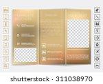 tri fold brochure mock up... | Shutterstock .eps vector #311038970