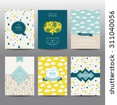 set of geometric brochures and... | Shutterstock .eps vector #311040056