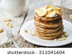 Banana Cashew Pancakes With...