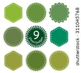Eco  Green  Natural Badges....