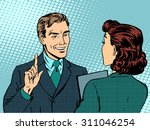 business meeting between boss... | Shutterstock .eps vector #311046254