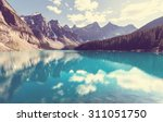 beautiful moraine lake in banff ... | Shutterstock . vector #311051750