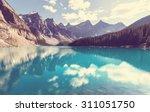 beautiful moraine lake in banff ... | Shutterstock . vector #311051750