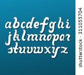 lowercase alphabet letters.... | Shutterstock . vector #311055704