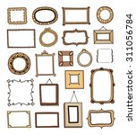 hand drawn frames made in vector | Shutterstock .eps vector #311056784