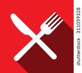 fork  knife  spoon icon vector... | Shutterstock .eps vector #311059328