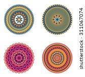 colors art round ornament.... | Shutterstock .eps vector #311067074