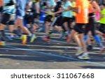 blurred background  marathon... | Shutterstock . vector #311067668