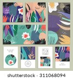 set of creative universal... | Shutterstock .eps vector #311068094