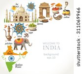 travel background india | Shutterstock .eps vector #311069966