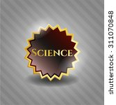 science gold shiny badge | Shutterstock .eps vector #311070848