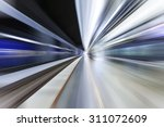fast train traveling at high... | Shutterstock . vector #311072609