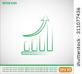 vector icon growth diagram  | Shutterstock .eps vector #311077436