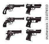 pistol and guns vector set | Shutterstock .eps vector #311078510