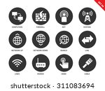 network vector icons set....