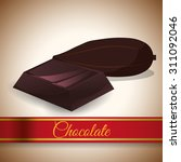 chocolate digital design ... | Shutterstock .eps vector #311092046