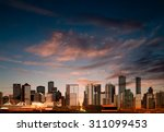 abstract vector sunrise... | Shutterstock .eps vector #311099453