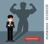successful businessman concept  ... | Shutterstock .eps vector #311102120