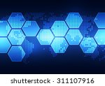 vector digital global... | Shutterstock .eps vector #311107916
