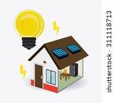 solar energy design  vector... | Shutterstock .eps vector #311118713