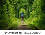 secret train 'tunnel of love'... | Shutterstock . vector #311120090