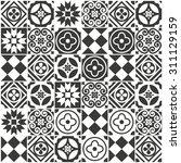 decorative tile pattern design. ... | Shutterstock .eps vector #311129159