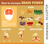 how to increase brain power of... | Shutterstock .eps vector #311129729