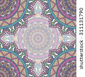 seamless pattern. vintage... | Shutterstock .eps vector #311131790