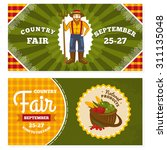 country fair vintage invitation ... | Shutterstock .eps vector #311135048